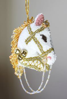 The Three Bells Christmas Horse Ornament is available on Etsy at Safe Harbor Boutique.