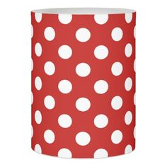 Polka dots flameless candle - classic gifts gift ideas diy custom unique
