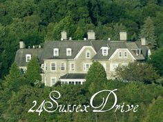 """24 Sussex Drive (Official Residence of the Prime Minister of Canada) Ottawa, Ontario CANADA   by flipkeat ... Built between 1866 and 1868 by Joseph Merrill Currier, it has been the home of almost every prime minister since Louis St. Laurent."""""""