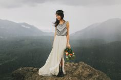 Wedding in the woods - One of my favorite wedding dresses ever!