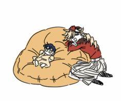 [kimetsu no yaiba]meme+fanart+doujinshi - :)) Manga Anime, Anime Demon, Anime Art, Demon Slayer, Slayer Anime, Royal Servant Manga, Familia Anime, Anime Family, Cute Family