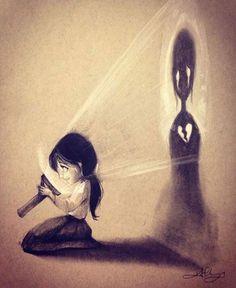 So it's ok. Your heart is broken. But my love for you is not - - Zeichnungen traurig - Kunst Sad Drawings, Dark Art Drawings, Pencil Art Drawings, Art Drawings Sketches, Dark Art Illustrations, Illustration Art, Art Du Croquis, Deep Art, Arte Obscura