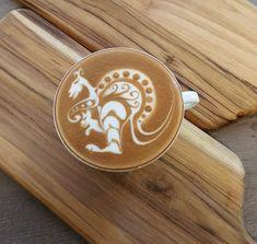 Latte Art 'Kangaroo' by Elvis - Seivijus Matiejunas