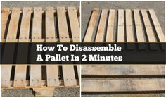 How to Easily Disassemble A Pallet. Plus 20+ DIY Outdoor Pallet Furnitures Projects with Instructions. #pallet,