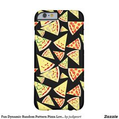 Fun Dynamic Random Pattern Pizza Lover's Barely There iPhone6 Case. #iphone #iphones #iphonecases #iphonecase #phonecases #pizza #pizzaslices #cheesepizza #pepperonipizza #mushroompizza #food #illustrations #illustration