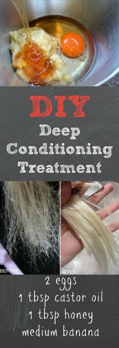 This DIY deep conditioning treatment works way better than store bough deep conditioners, and it's super cheap to make! We love this DIY deep conditioning treatment because it leaves your hair extr…