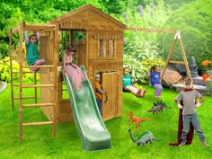 Have you ever wanted a home away from home for your little ones? If so then marvel at this fun filled Clubhouse that features a whole range of different activities that will keep them entertained for hours on end. This wooden climbing frame will have your kids inviting their friends over to play all the time, and who can blame them! This pressure treated climbing frame features a wavy slide, monkey bars, and windows, making this the perfect little getaway.