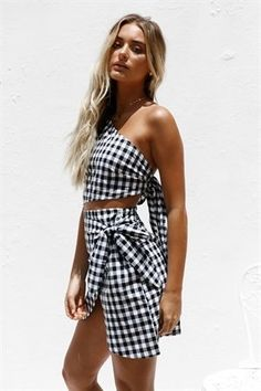 Shop new | SABO SKIRT Dresses Online, Poor Little Rich Girl, Sabo Skirt, Gingham Dress, Unique Dresses, Black Flats, Hemline, Fashion Forward
