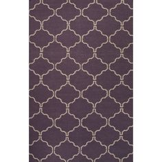 Jaipur Rugs FlatWeave Geometric Pattern Purple/Ivory Wool Area Rug MR111 (Rectangle)