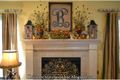 Kristens Creations Fall Mantel