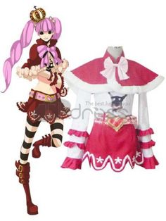 OP CosPlay must. White Red One Piece Peiluona Uniform Cloth Cosplay Costumes