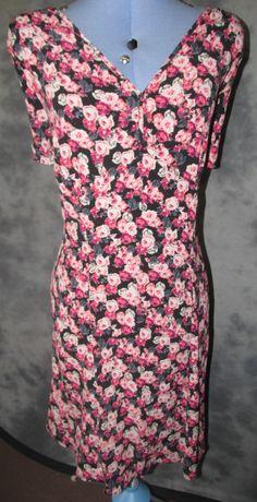 marks and spencer,ladies,size 20,v neck,short sleeved,knee length,casual,T dress