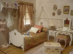 A room diorama 1:6 for pullip, blythe, momoko, barbie, licca, azone, pure neemo etc