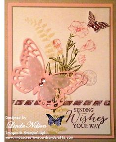 Butterfly Basics Sending Wishes Card by lnelson74 - Cards and Paper Crafts at Splitcoaststampers
