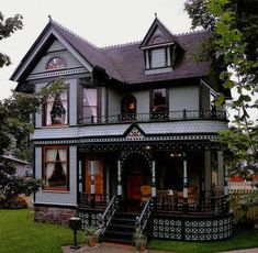 My dream home is a BRAND NEW home custom built to look Victorian reusing old architectural elements like mantels,door knobs...etc. I'd use the same blue with WHITE trim though
