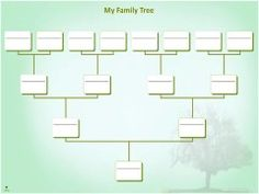 Family Tree Chart Template Example  Youtube  Tree
