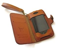 Leather iPhone 4/4S Wallet Detachable Wristlet Strap by karenkell