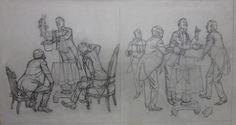 Albert Dorne sketchook