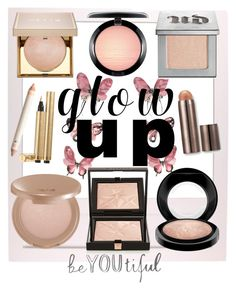 """""""Glow Up! - High End Highlighters"""" by allyssister ❤ liked on Polyvore featuring beauty, Stila, MAC Cosmetics, Laura Mercier, Urban Decay, tarte, Givenchy and Yves Saint Laurent"""