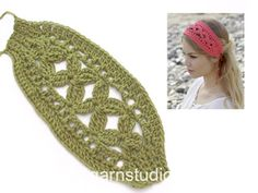 How to crochet the head band in DROPS Filet Crochet, Crochet Amigurumi, Crochet Motifs, Knit Crochet, Crochet Headband Free, Confection Au Crochet, Crochet Hair Accessories, Christmas Crochet Patterns, Crochet Girls