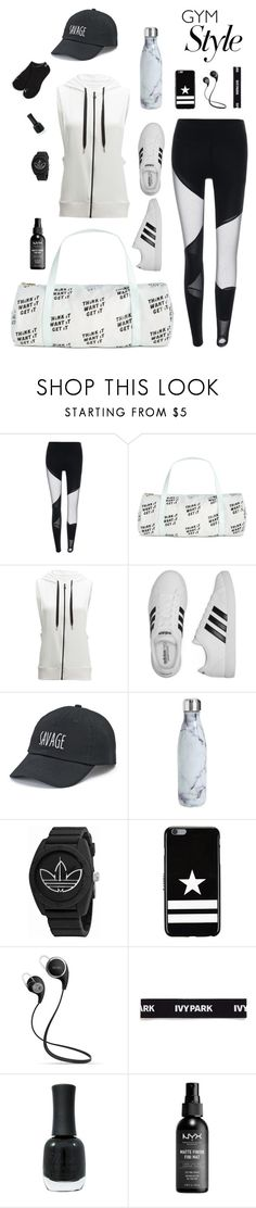"""black and white gym style"" by mountainrose ❤ liked on Polyvore featuring ban.do, Beyond Yoga, adidas, SO, S'well, Givenchy, Ivy Park, Charlotte Russe and Puma"