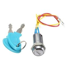 ignition Switch Keys Lock For Motorcycle Electric Scooters Bike description: the Ignition Switch Is Brand New And Unused And Comes With 2 Keys. suitable For Electric Cars, Tricycles, Electric Buggies