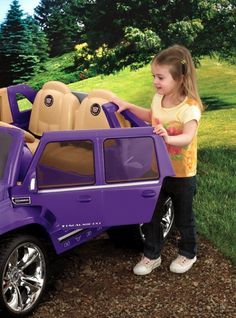 Power Wheels Cadillac Escalade in  Purple of course ♥ purple cars, purple trucks, purple SUV, purple classic cars, purple muscle cars Purple Cars, Purple Love, All Things Purple, Shades Of Purple, Princess Toys, Power Wheels, Baby Swag, Kids Ride On, Cadillac Escalade