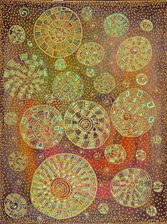"Saatchi Art Artist Lara Lind; Painting, ""Eternity"" #art Saatchi Art, Original Paintings, Pastel, Artist, Diy, Color, Inspiration, Shapes, Food Items"