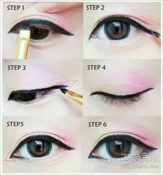 Znalezione obrazy dla zapytania kpop eyes makeup