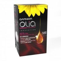 £6.99 - Garnier Olia Hair Colour  New from Garnier - A Technology breakthrough, oil delivery service.  Maximum colour perfomance, deep even long lasting colour, improves the visible quality of hait and improves shine and softness.
