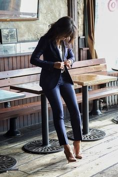 40 Real Women Outfits (No Models) to Try This Year. Fitted Suits for women. menswear inspired looks for women. women's fashion and style. Business Outfits, Office Outfits, Mode Outfits, Business Fashion, Fashion Outfits, Stylish Outfits, Office Attire, Business Wear, Lawyer Fashion