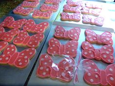 """Minnie Mouse 5"""" Bow Cookies--July 2014"""