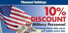 Pleasant Holidays - 10% Discount for Military