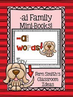 Printable Phonics Mini-Books for the -ai Family #TPT {paid}