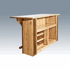 "We offer this handcrafted Amish ""Homestead Collection"" deluxe bar and other fine handcrafted rustic bars. Browse our rustic furniture catalogs now.  Free Delivery to 48 states."