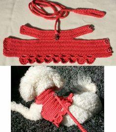 Best 12 Crochet Dog Harness Dog Dress Small dog clothes Harness and – SkillOfKing. Dog Sweater Pattern, Crochet Dog Sweater, Small Dog Clothes, Pet Clothes, Cat Clothing, Hand Crochet, Free Crochet, Crochet Dog Clothes, Knitting Patterns