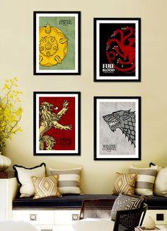 Affiche Poster A4 / A3 - Games of Thrones  (25% off shop page / -25 sur la page boutique) de la boutique LiliePixels sur Etsy
