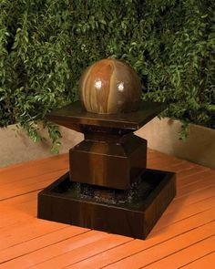 Free Shipping and No Sales Tax on the Alaster With Ball Garden Water Fountain from the Outdoor Fountain Pros.