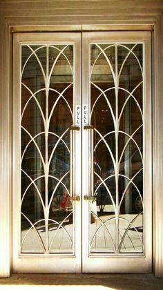 Art Nouveau/Art Deco style double doors. Art Deco Furniture, Antique Furniture, Furniture Design, Furniture Showroom, Wedding Furniture, Furniture Ideas, Modern Furniture, Primitive Furniture, Couch Furniture