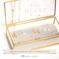 Shop my boutique for more c+i tokens of love! Each piece less than $30 each. Comes in gold or silver! www.sparklewithsarah.com