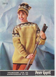 Granåsen 789 S Embroidery Patterns, Knitting Patterns, Norwegian Knitting, Tapestry Weaving, Vintage Knitting, Jumpers, Color Combinations, Knitwear, Eye