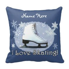 I Love Skating! Throw Pillows