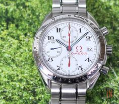 """""""On The Pitch!"""" #Omega 39mm Speedmaster Olympic Collection Timeless Ref#: 3516.20.00 ($2,475.00 USD) http://www.elementintime.com/Omega-Speedmaster-3516.20.00-Stainless-Steel-White-Dial-Olympics"""