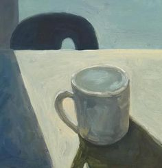 Morning Coffee by Lynne Hamontree, 10 x 10, oil on canvas, $250