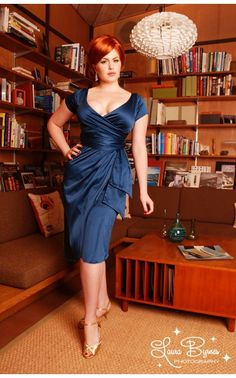 Ava Dress in Teal - Pinup Couture - House Brands   Pinup Girl Clothing