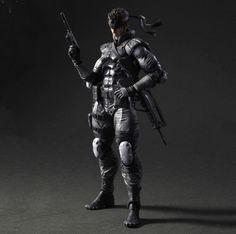 Figura Metal Gear Solid. Solid Snake, Play Arts Kai Vol.5, 23cm Figura de Solid Snake, protagonista de la saga de videojuegos Metal Gear Solid.