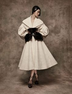 "Lilli Ji in Christian Dior Fall 2008 Haute Couture for ""Remembrance of Things Past,"" L'Officiel China September 2010"