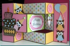 An adorable owl birthday card by shortwizard.blogspot.com
