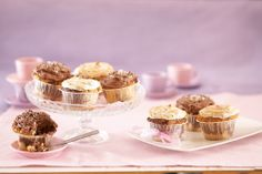 Tiikerikuppikakut eli kuorrutetut muffinit