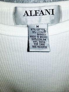 e70ac4131ab79f Alfani Mens V Neck Short Sleeve T Shirt Size Medium Stretch Fit White A04
